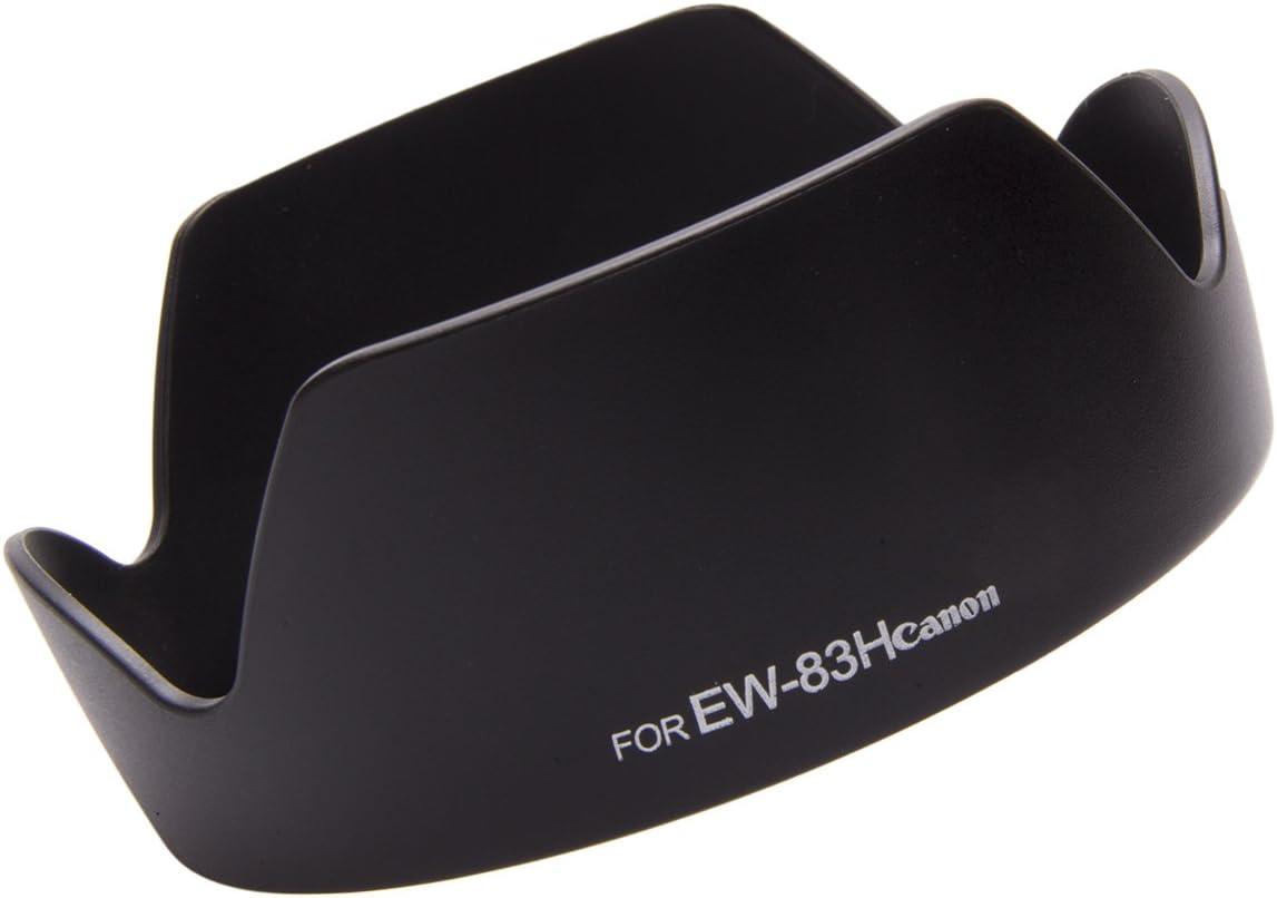 Fovitec 1x Lens Hood for Canon EW-83H DSLR - OEM Quality Hardened ABS Plastic