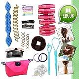 Ultimate Hair Styling Tools Accessories DIY Kit Set BONUS eBook for Teens Girls Women