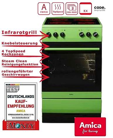 Cocina Amica SHC 11508 G con horno, de 50 cm, independiente, color ...