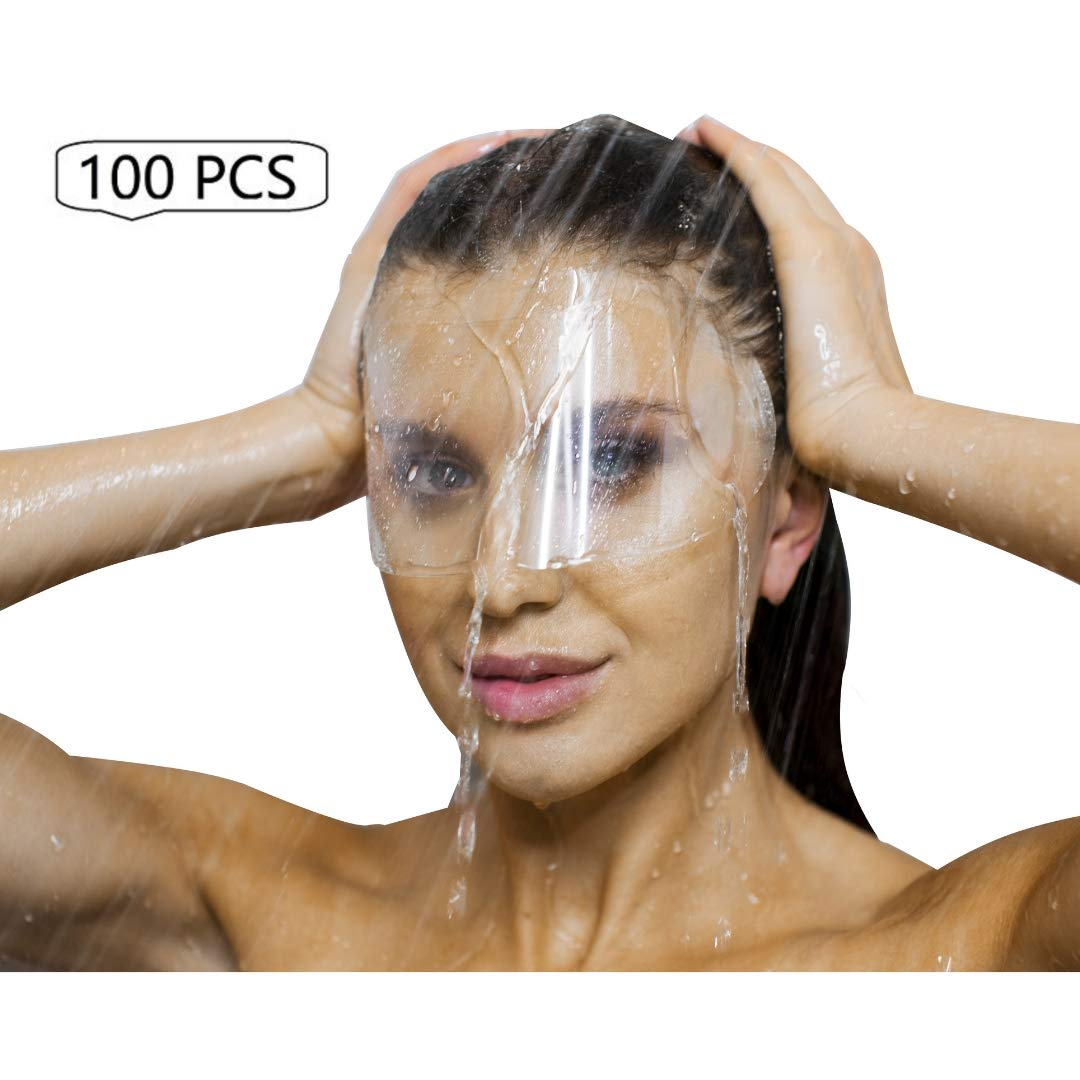 100 PCS Microblading Permanent Makeup Cosmetic Tattoo Eyelash Extensions Eye Surgery Eyelid Surgery Blepharoplasty Aftercare Protective Water Visors Shields Masks For Eyes And Eyebrows