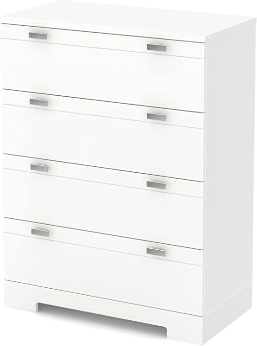South Shore Furniture 3840034 Reevo 4 Drawer Chest Pure White Amazon Ca Home Kitchen