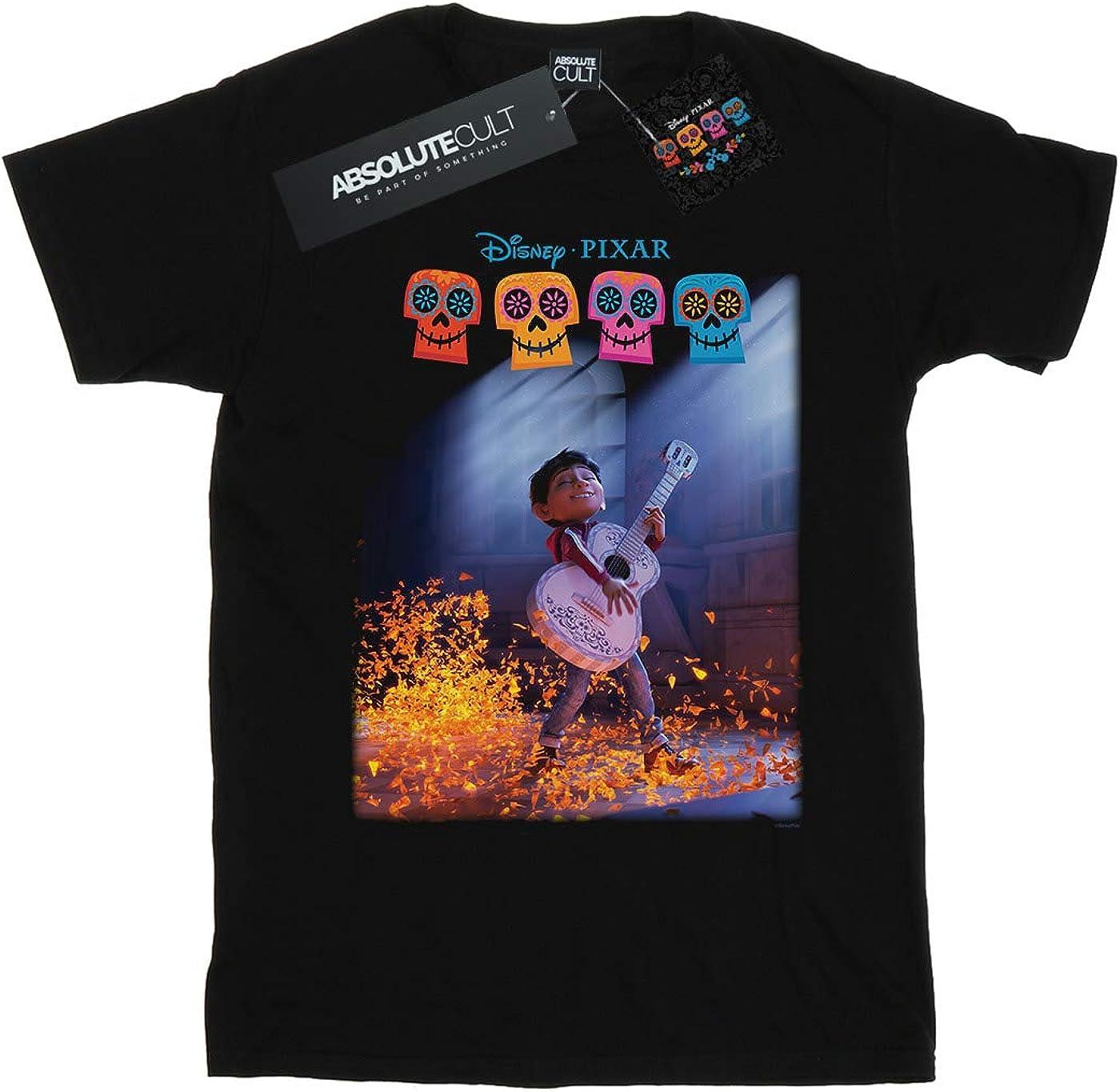 Disney Ni/ñas Coco Miguel Playing Hectors Guitar Camiseta Negro 3-4 Years