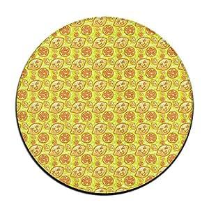 Limón Emoji cara antideslizante alfombrillas Circular alfombra alfombrillas comedor dormitorio alfombra Felpudo 23.6pulgadas