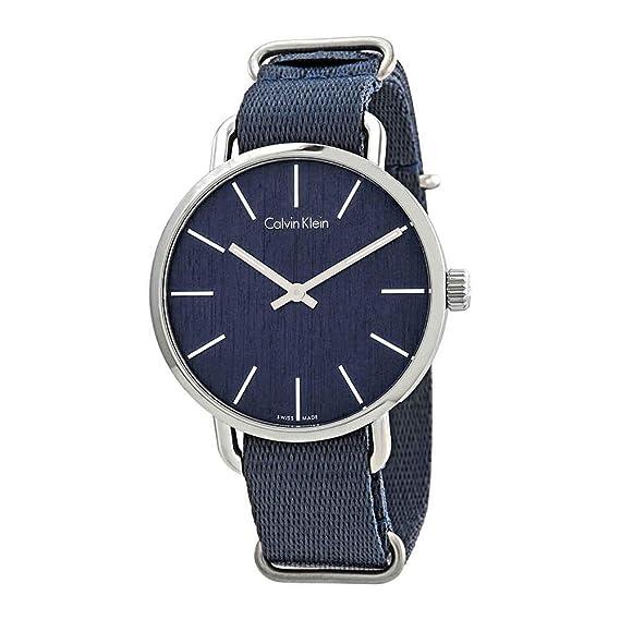 Calvin Klein Reloj Analogico para Hombre de Cuarzo con Correa en Tela K7B211WL: Amazon.es: Relojes