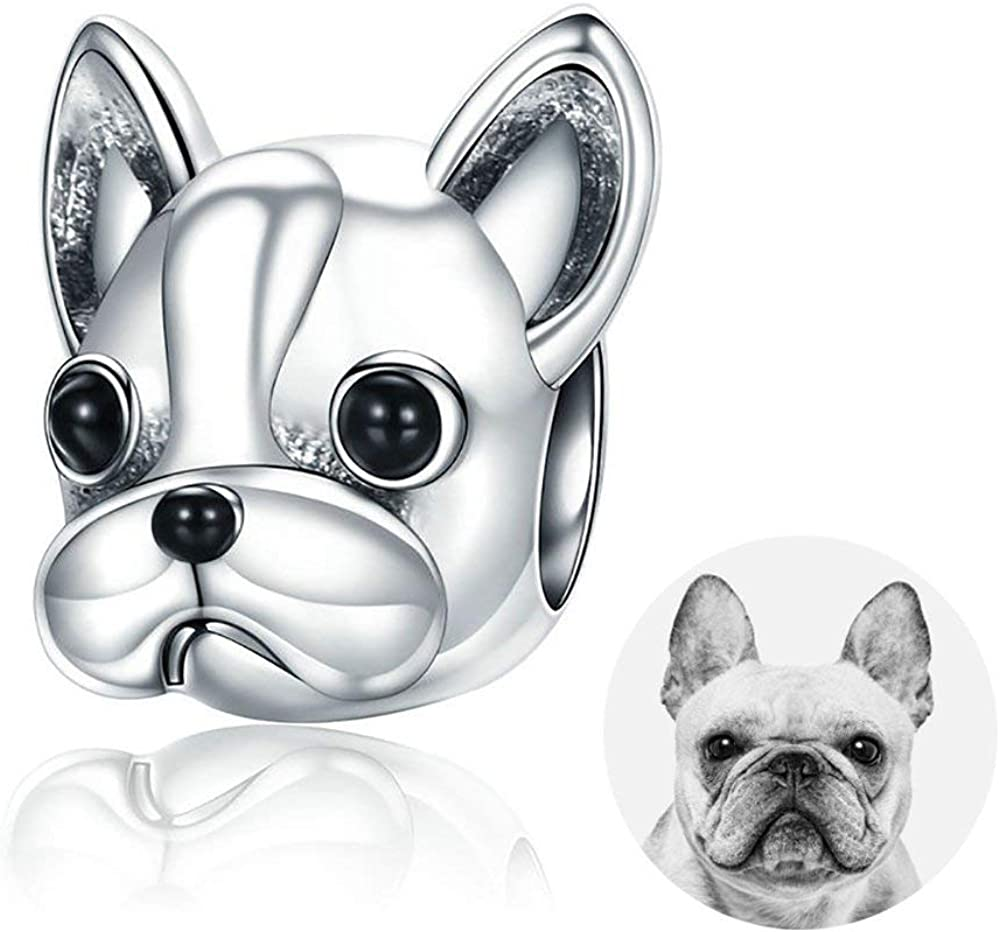 Amazon Com Forever Queen Dog Charm 925 Sterling Silver Cute Loyal Partners French Bulldog Doggy Animal Pet Bead Charms Fit Pandora Charms Bracelets Jewelry Animal Lovers Bj09001 Jewelry