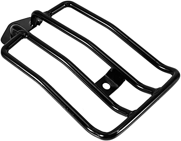 """6/"""" Black Solo Seat Luggage Rack For Harley Davidson Sportster XL883//1200 X48"""