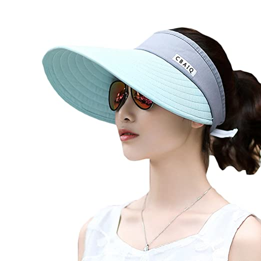 232c2e6016d Image Unavailable. Image not available for. Color  ChenXi Store Women  Summer Outdoor Anti-UV Sun Hat Foldable Breathable Travel ...
