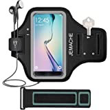 Galaxy Note 8/S7 Edge/S8/S8 Plus Armband, JEMACHE Gym Run/Jog/Exercise Workout Arm Band Case for Samsung Galaxy S8/S9, S8/S9 Plus, S6/S7 Edge, Note 5 8 with Key/Card Holder