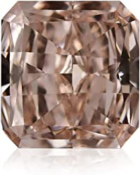 0.43Cts Fancy Light Brownish Pink Loose Diamond Natural Color Radiant Cut GIA