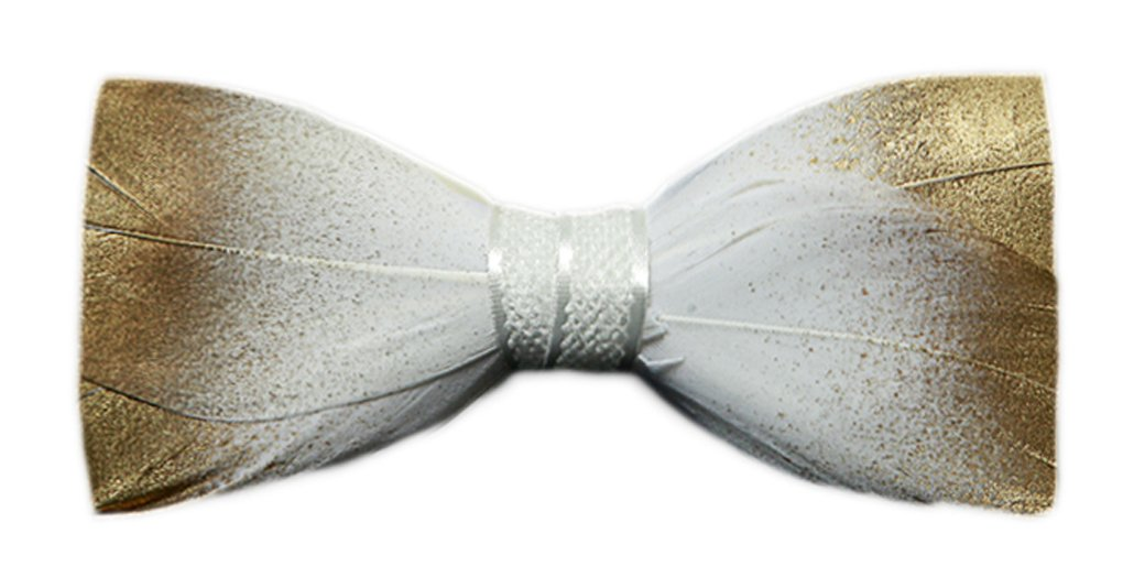 Bow Tie Swan Feathers Golden Pu Suitable For Wedding Party Gifts Prom Formals Home