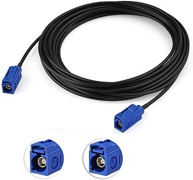 Bingfu GPS Coche Antena Cable FAKRA Hembra a FAKRA Hembra ...