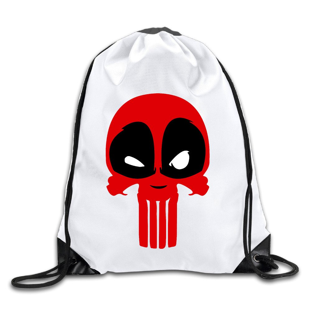 f44da932a1e8 OYOLOY Deadpool And Punisher Mashup Punishpool Drawstring Backpack ...