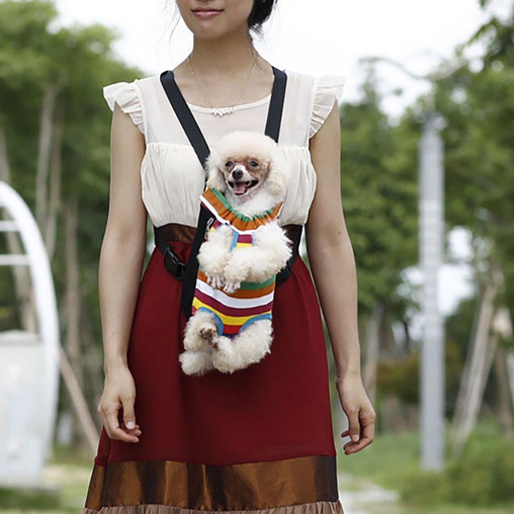 Black, XL MerryBIY Pet Dog Carriers Piccoli Cane Cani Gatti Puppy Viaggiare Zaino Petto Sacchetti Pack Borsa Protorace Sacchetto di Spalle Mesh Bag Leggero e Portatile Borse per Testa Out gli Animali Domestici
