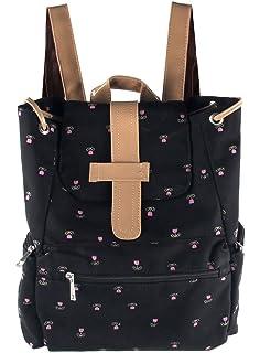Amazon.com: Korea Vintage Canvas Backpack Girl Women Shoulder ...