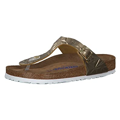 6f18d17dc1e2 Birkenstock Gizeh Leather Soft-Footbed Regular Spectral Platin Size EU 36 -  US L5