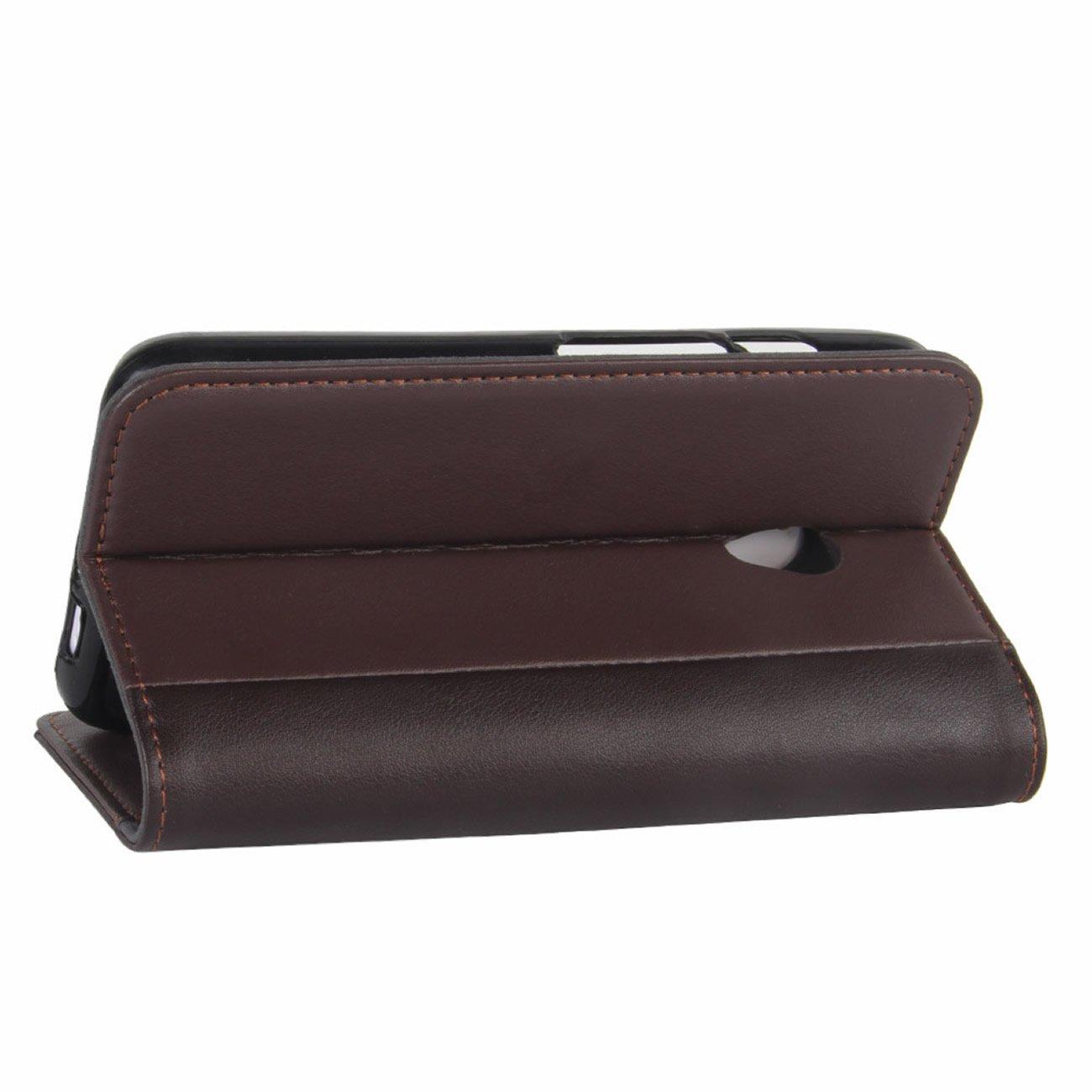 HualuBro Funda Vodafone Smart Turbo 7, [Protección Todo Alrededor] Premium PU Cuero Leather Billetera Wallet Carcasa Case Flip Cover para Vodafone Smart ...