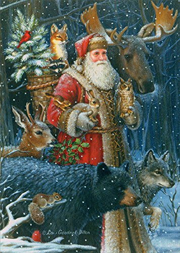 Woodland Santa - Box of 16 Christmas - Stores Woodlands