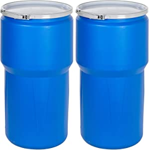 Eagle 1610MB Blue High Density Polyethylene Lab Pack Drum with Metal Lever-Lock Lid, 14 Gallon Capacity, 26.5