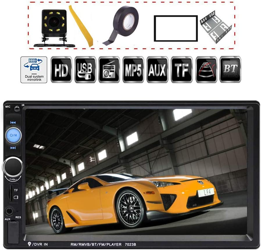 TDYJWELL 7 inch Double Din Touch Screen Car Stereo review.
