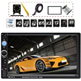 TDYJWELL 7 inch Double Din Touch Screen Car Stereo Upgrade The Latest Version MP5/4/3 Player FM Radio Video Support…