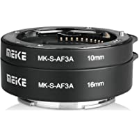 Meike MK-S-AF3-A Metal Auto Focus Macro Extension Tube Adapter Ring (10mm+16mm )for Sony Mirrorless E-Mount FE-Mount A7 NEX E-Mount Camera A7 A7M2 NEX3 NEX5 NEX6 NEX7 A5000 A5100 A6000 A6300 A6500