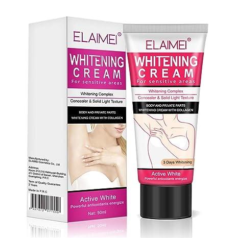 Skin Whitening Cream Wisolt Crema desodorante blanqueadora natural para la piel oscura, Axila, codo