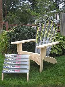 Snow Ski Adirondack Chair & Ottoman (Volant Skichair)
