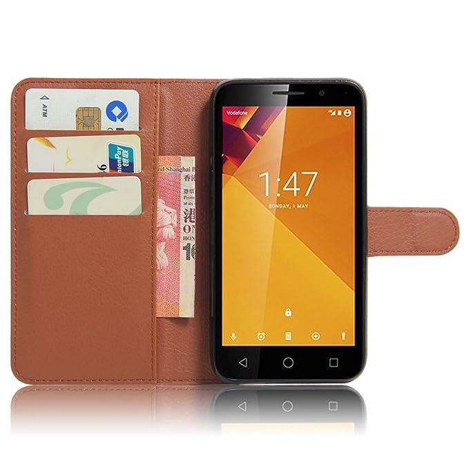 Amazon.com: Vodafone Smart Turbo 7 VFD500 Case, DISLAND(TM) Flip PU Leather Card Slot Case Magnetic Closure Stand Cover Fashion Wallet Case for Vodafone ...
