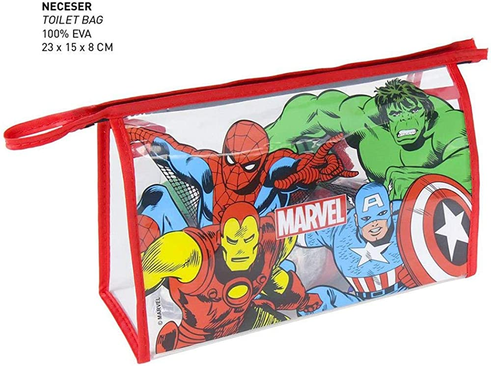 Rojo Artesania Cerda Neceser Set Aseo//Viaje Spiderman Bolsa de Aseo 23 cm