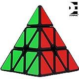 D ETERNAL Rubiks Rubix Pyramid Cube 3x3 Speed Triangle Pyraminx Puzzle Cube, Black