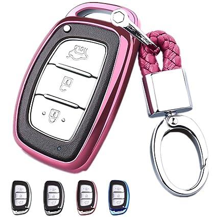 Mofei - Carcasa Protectora para Llave de Hyundai con Llavero ...