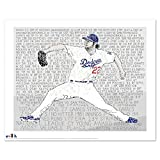 "Clayton Kershaw 2014 MVP & Cy Young Wall Art Poster - Los Angeles Dodgers Poster Print - LA Dodgers Decor - Great Gift - 16""x20"""