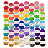 Mira Handcrafts 40 Assorted Colors Acrylic Yarn