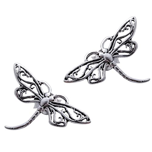 Jewelry & Watches Fashion Jewelry Nice Dragonfly Earrings Sterling Silver 92.5