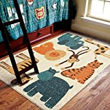 Orian Rugs Kids My room is a Zoo Beige Area Rug (3'10