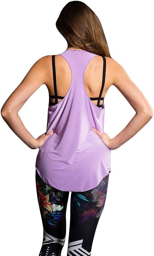Onzie Hot Yoga Glossy Flow Tank Top 353 Lavender