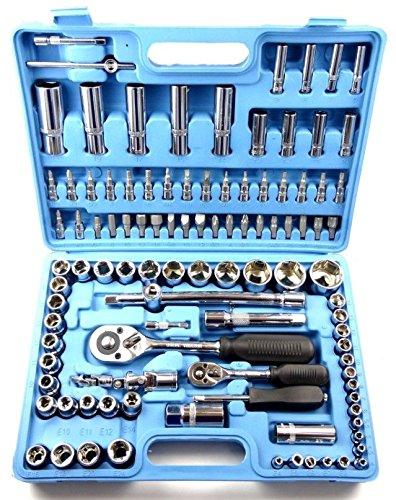 Jurmann STK3019 108-tlg PROFI-Werkzeugkoffer Steckschl/üssel Set Knarrenkasten Ratschenkasten 108 Teile