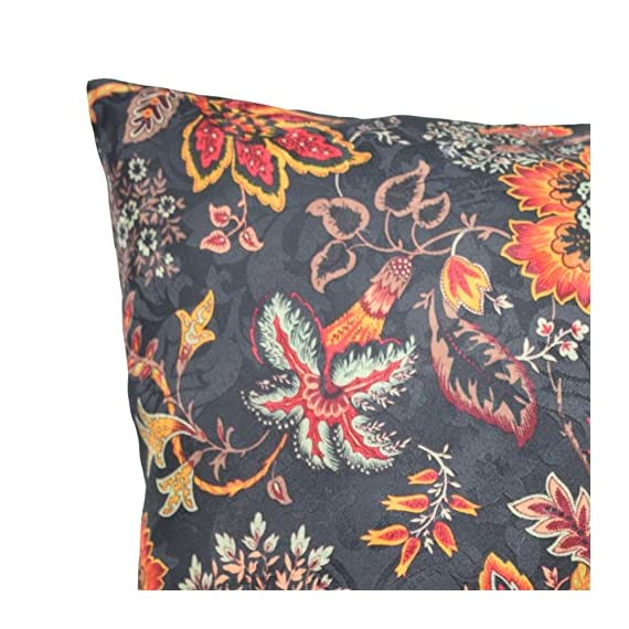 "Traditions By Waverly 14315018X018OYX Navarra Floral Decorative Pillow Set (2 Pack), 18"" x 18"", Onyx - 2-Pack pillow set Coordinating Navarra window panels and valance sold separately 100 Percent polyester - living-room-soft-furnishings, living-room, decorative-pillows - 61Hy22wpjuL. SS570  -"