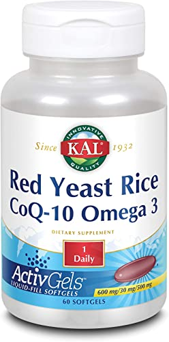 Kal Red Yeast Rice COQ10 Omega 3, 60 Count