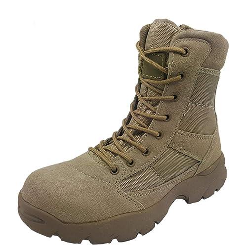 Botas Tácticas Hombres Arena Patrulla Transpirable Ligero Desierto Botas Militar Botas High Help Commando Marine Boots: Amazon.es: Zapatos y complementos