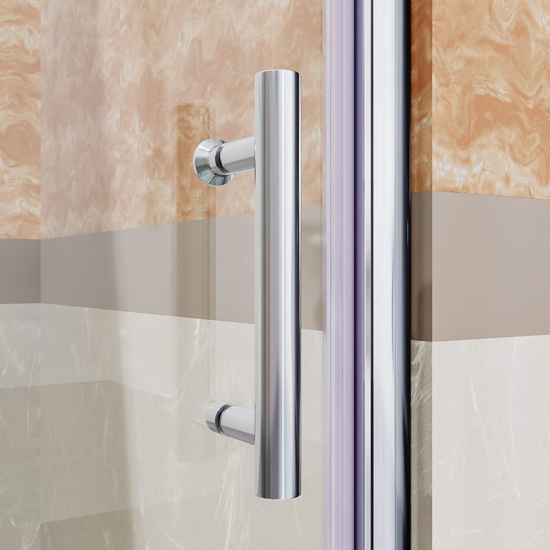 Elegante duchas semi-frameless Pivot Swing para mampara de ducha ...
