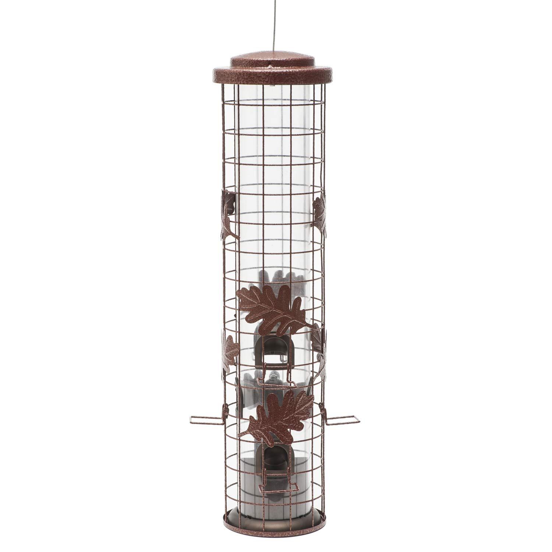 Color Rosso Rustico da 900 g A Prova di Scoiattolo Perky-Pet Mangiatoia per Uccelli Selvatici a Cilindro SBG100