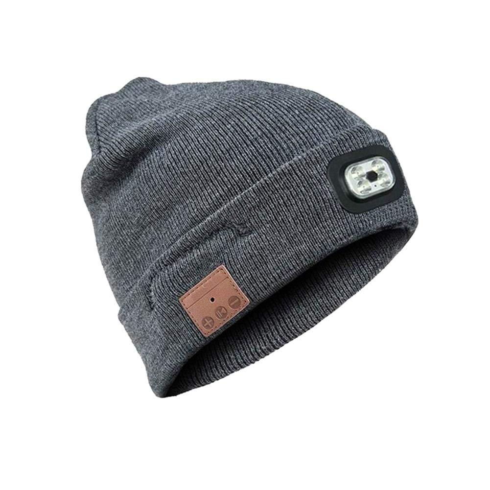 pangyan990 Casquillo de Faro sin Manos Recargable de Knit Hat, Deportes al Aire Libre, Trotar, Correr, Esquiar, Practicar Senderismo, Acampar, etc.