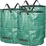 MAHAO Large 272 Liters/60 UK Gallons Garden Waste Bag (H76cm/30, D67cm/26.4'') (4 Bags)