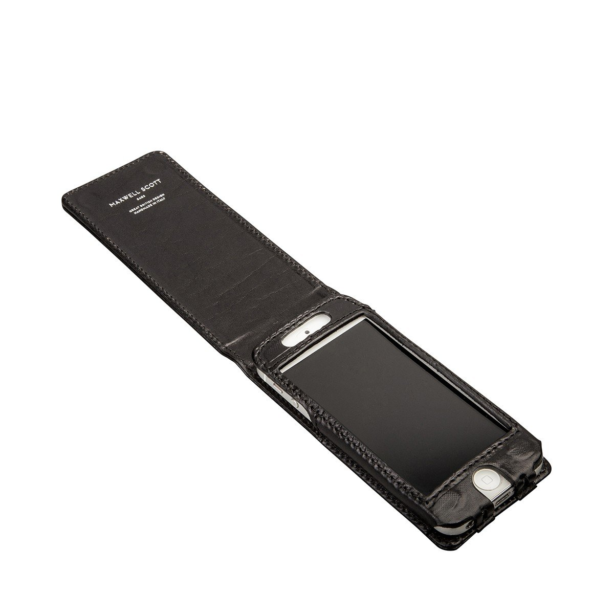 Maxwell Scott Personalized Iphone 5/5s Black Leather Flip Case for Cell (Renato) by Maxwell Scott Bags (Image #6)