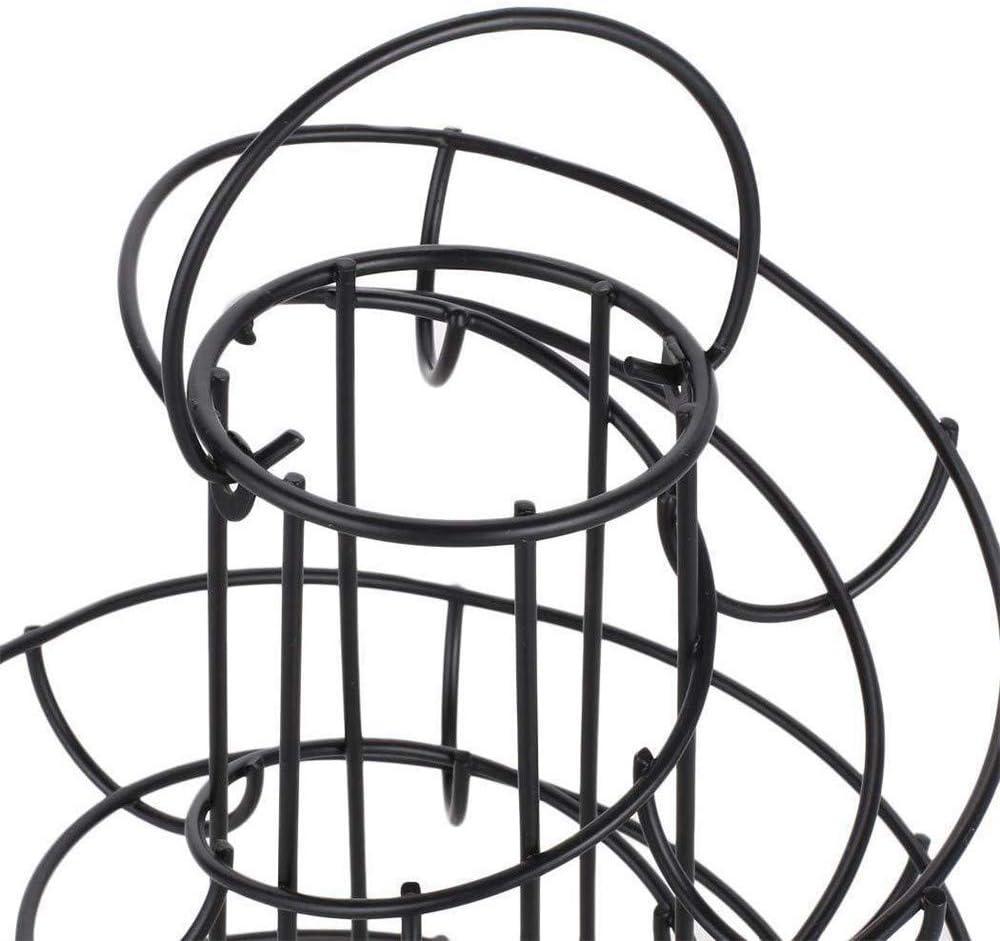 Espiral de la cesta del huevo multifuncional metal espiral Dise/ño Huevo titular Distribuci/ón Cesta Estante de almacenamiento huevo Estante del soporte decoraci/ón de la cocina del hogar de la sala