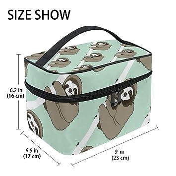 e96947e780b0 Amazon.com : Cute Sloth Animal Hanging Toiletry Bag Travel Organizer ...