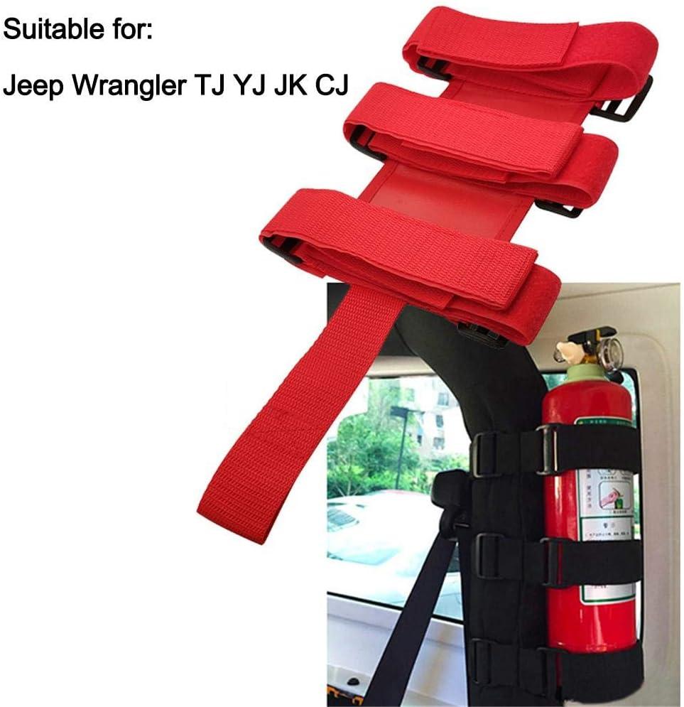 ningxiao586 Porte-Rouleau r/églable en Nylon avec Support dextincteur mont/é pour Jeep Wrangler TJ YJ JK CJ