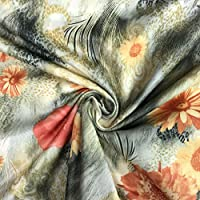 """STRETCH  PRINTED   JERSEY FABRIC-58/"""" Wide-Sold by The Meter"""