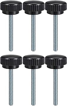 uxcell M8 x 30mm Male Thread Knurled Clamping Knobs Grip Thumb Screw on Type 5 Pcs